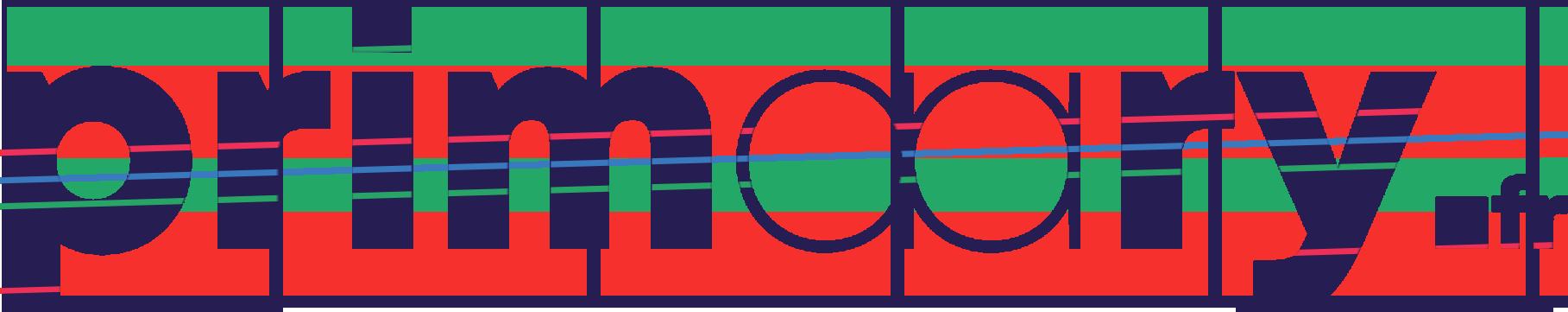 logo avec bandes de couleurs